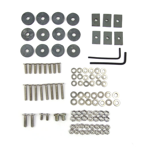 Lambretta - Floor Board - Fixing Kit - Series 3 - Grey - Stainless Steel