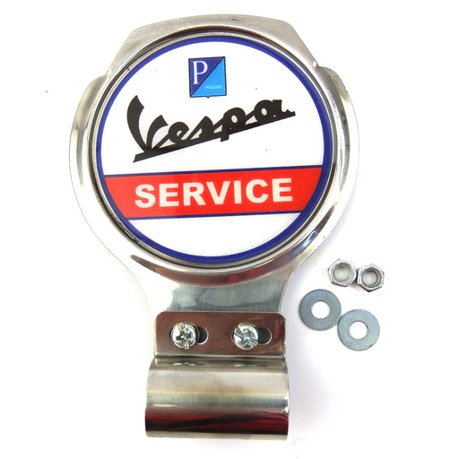 Bar Badge/Plaque - Vespa Service - Stainless Steel