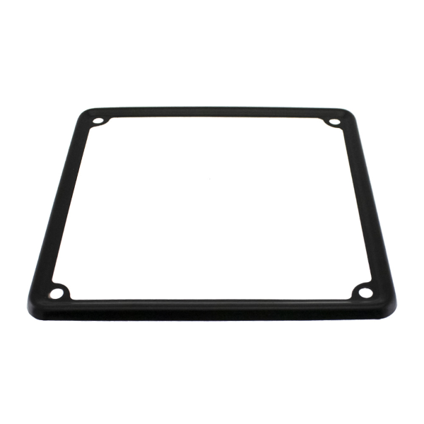 Number Plate Surround Matt Black - 17cm x 17cm