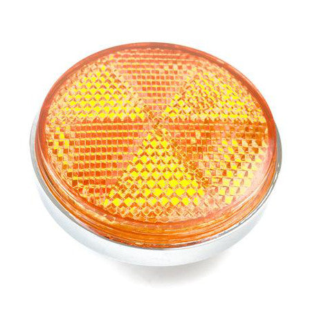 Light Reflector - Amber With Chrome Surround - 60mm Diameter