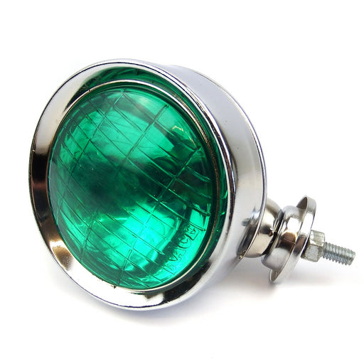 Lamp - Spot Light 9.5cm - Chrome With Green Lens