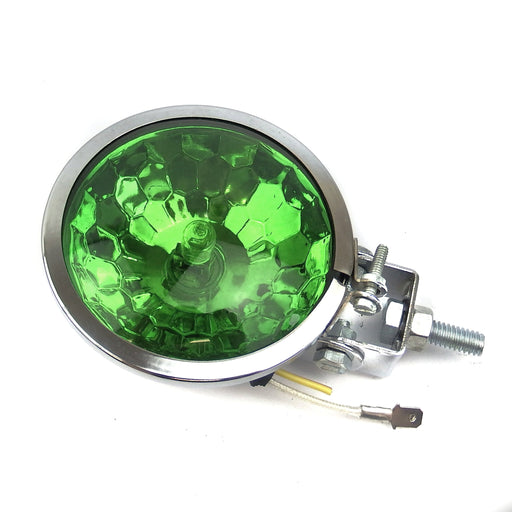 Lamp - Spot Light 9cm - Honeycomb - Chrome - Green Lens
