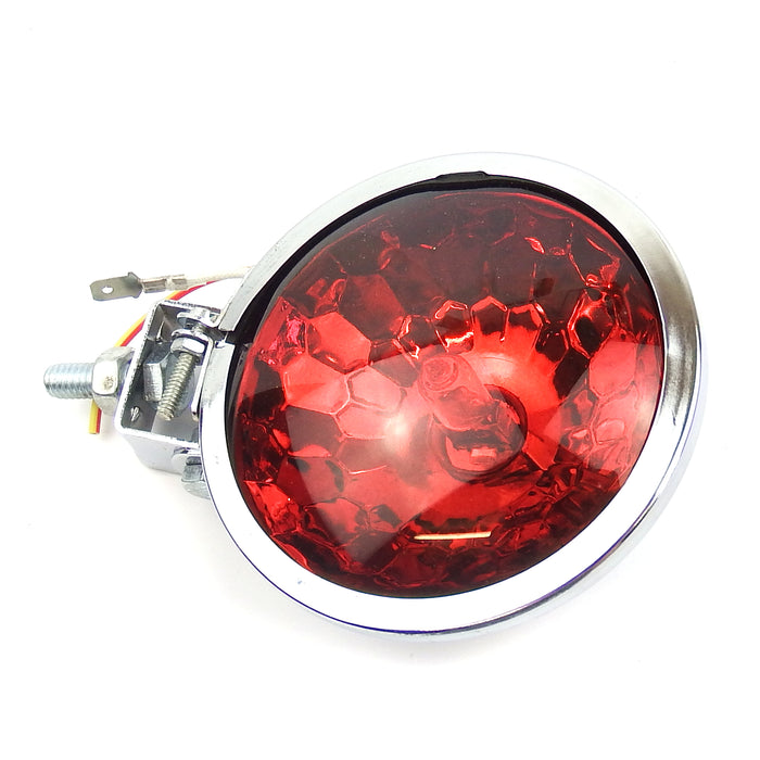 Lamp Spot Light 9cm Honeycomb Chrome Red Lens