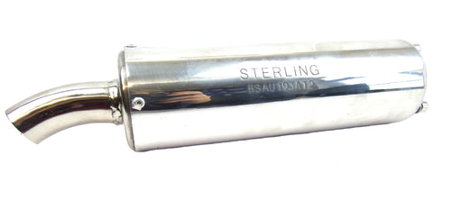 Exhaust - Sterling - Performance - End Can - Lambretta - Silver