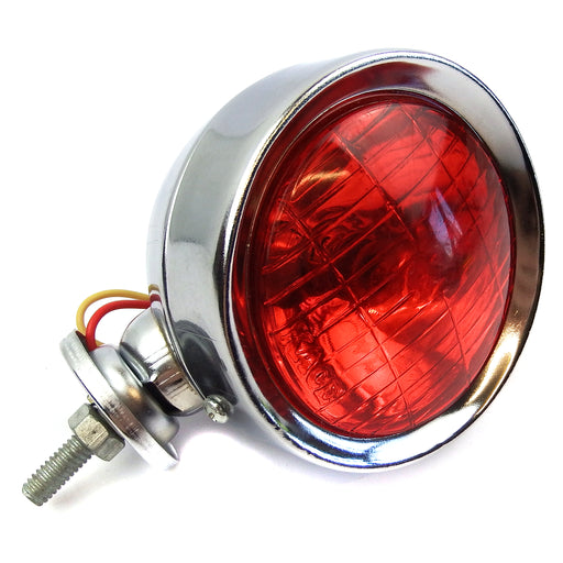 Lamp - Spot Light 9.5cm - Chrome With Red Lens