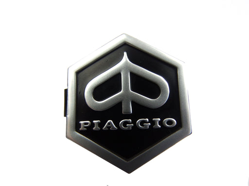 Vespa PX, EFL, T5, LML Piaggio Hexagon Shaped Clip In Horncover Badge Black