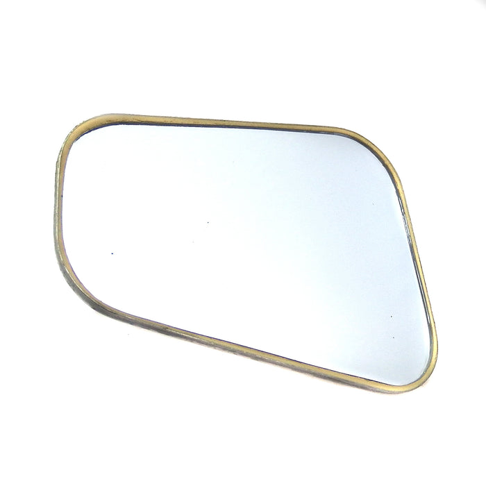 Universal Mirror Chrome Mirror Head Stadium Shape