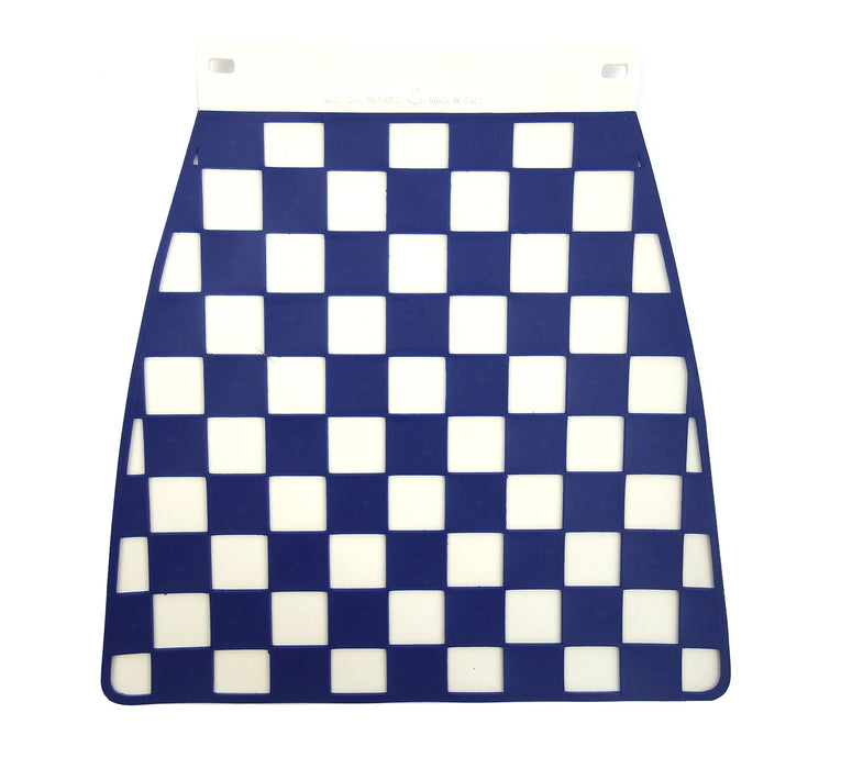 Universal Pressed Chequered Type Mudflap Dark Blue & White