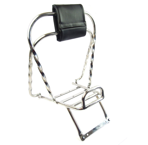 Vespa PX PE T5 Classic Twisted Flip Flop Flip Over Backrest - Stainless Steel