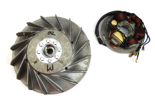 Vespa - Stator Plate And Flywheel - P200E or Conversion from 6 V