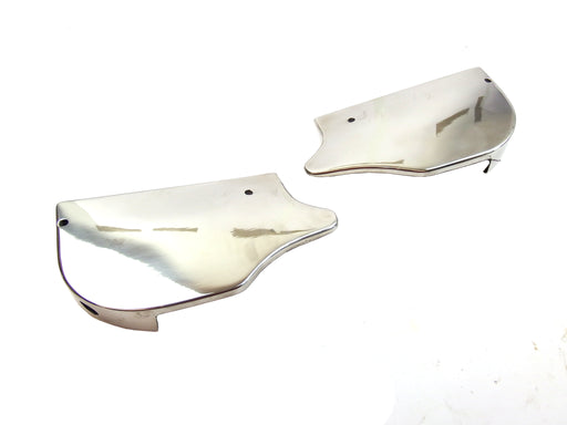 Lambretta - Rear Runner Boards - Cut Off - Pressed - Curved With Holes - SS