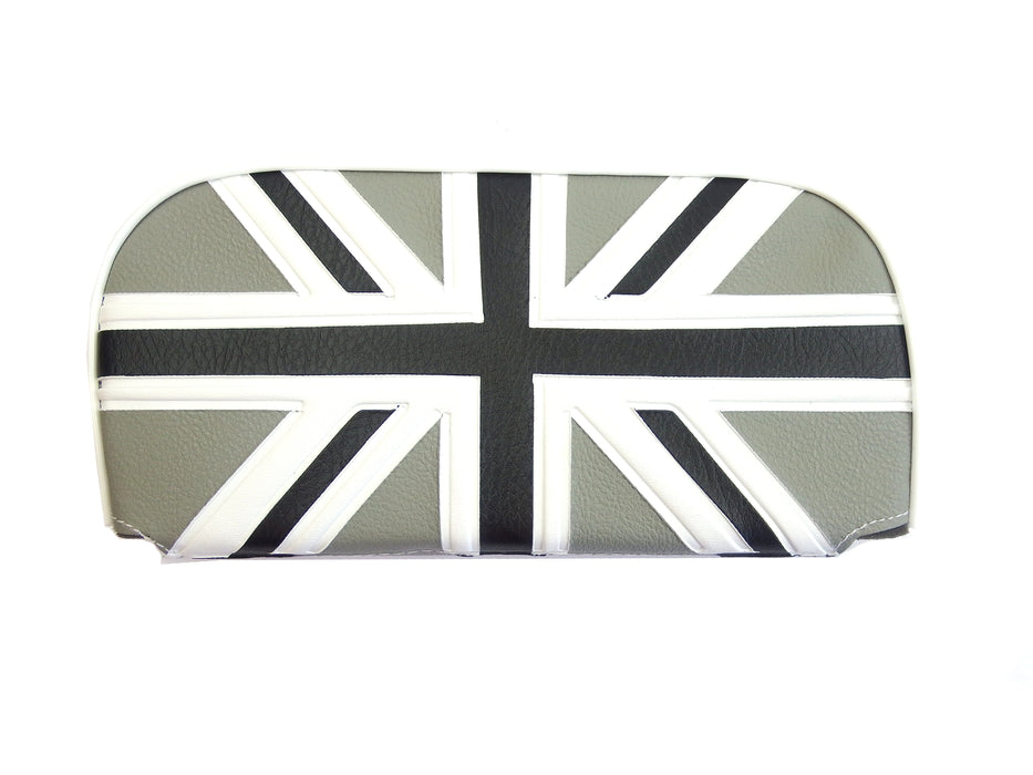 Backrest Replacement Pad For Cuppini Carriers Black & White Union Jack