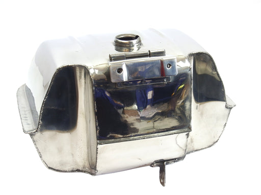 Lambretta Series 1 2 3 GP Li SX TV Mid Range Bolt In 12 Litre Petrol Tank With High Dual Cuts upto 40mm Carb - Stainless Steel