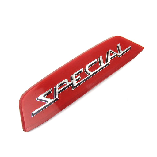 Lambretta - Badge - Rear Frame Badge Insert Special - 3D Silv/Re