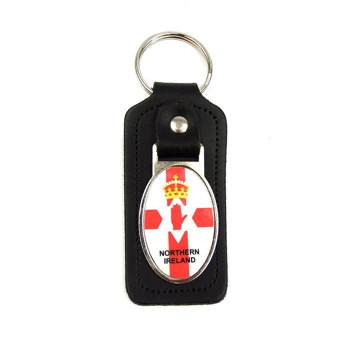 Key Ring - Leather - Northern Ireland