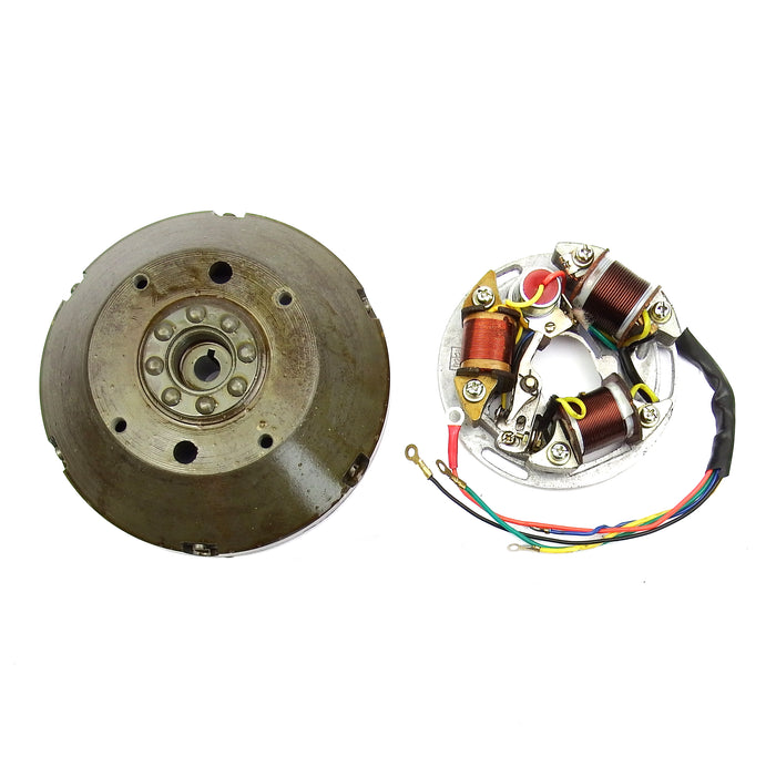 Vespa - Stator Plate And Flywheel - Super/Sprint/GT