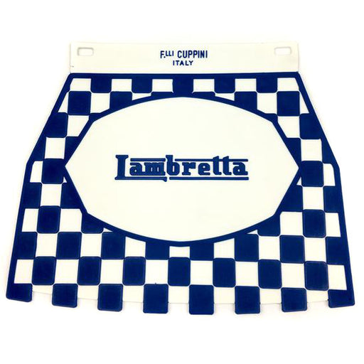 Lambretta Pressed Chequered Mudflap Blue