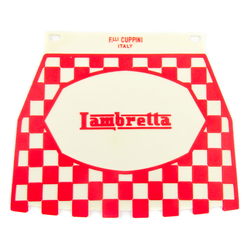 Lambretta Pressed Chequered Mudflap Red