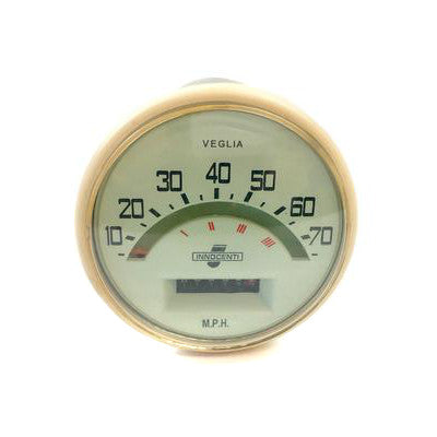 Lambretta - Speedometer - Series 1, 2 - 70 MPH - Indian Cable FItment