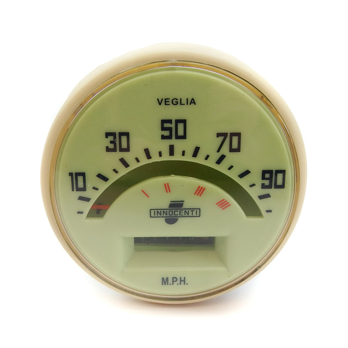 Lambretta - Speedometer - Series 1, 2 - 90 MPH - Indian Cable FItment