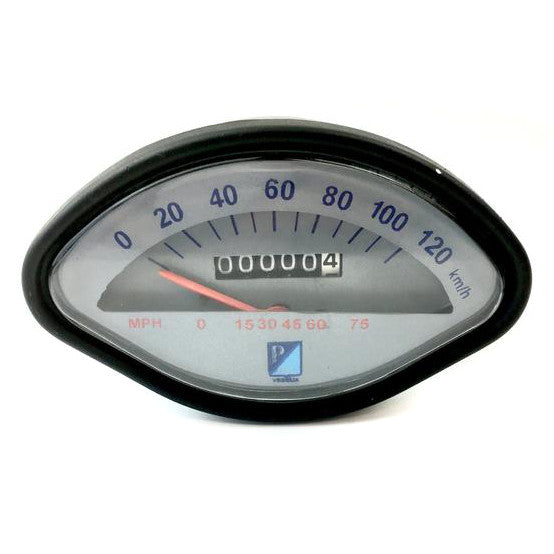 Vespa - Speedometer - Sprint/GS/SS/VBB - 120KMH/75MPH - GREY FACE