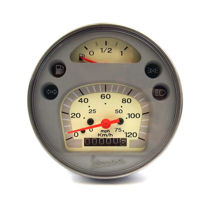 Vespa Speedometer 120KMH, 80MPH PX DISC, MY, 2001 Onwards