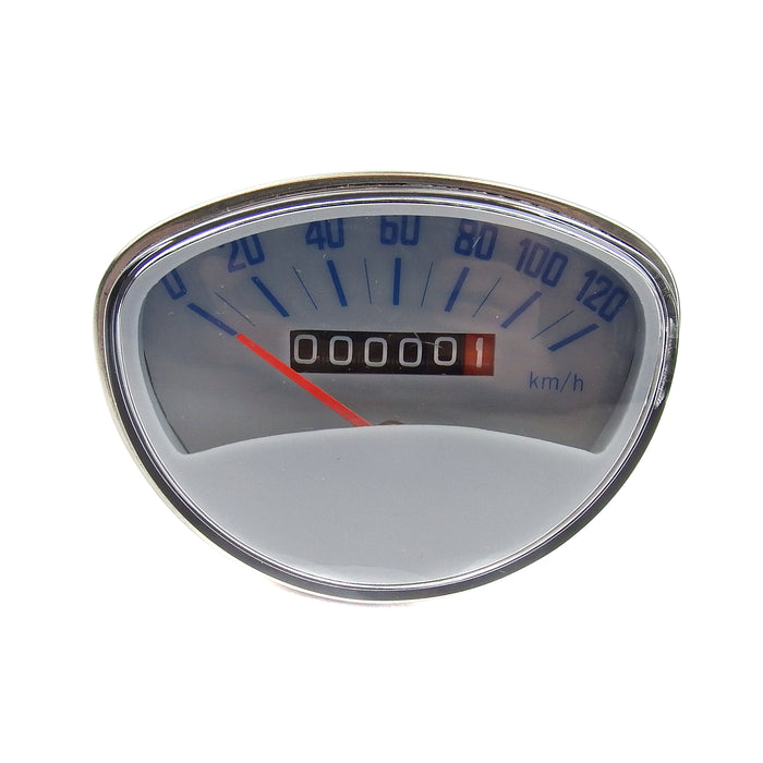 Vespa - Speedometer - Rally Clock - Grey/Blue  - 120KPH