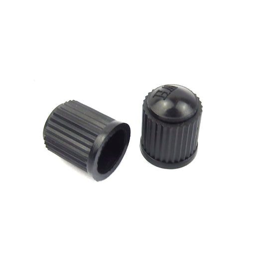 Pair of Standard Black Plastic Valve Cap