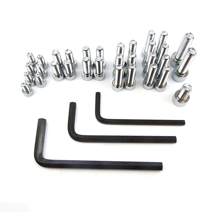 Lambretta - Fixing Kit - Engine And Cowlings - Chrome Allen Screw Kit