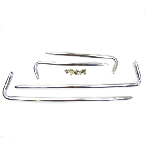 Vespa GS Side Panel / Front Mud Trim Polished Alloy