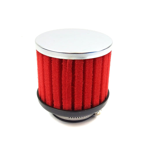 Air Filter Ribbed Sponge Red 42mm Straight