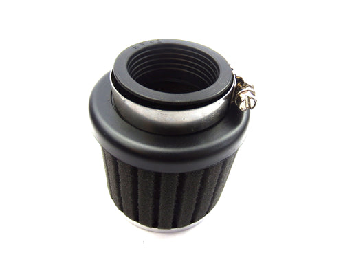 Air Filter Ribbed Sponge Black 42mm Straight