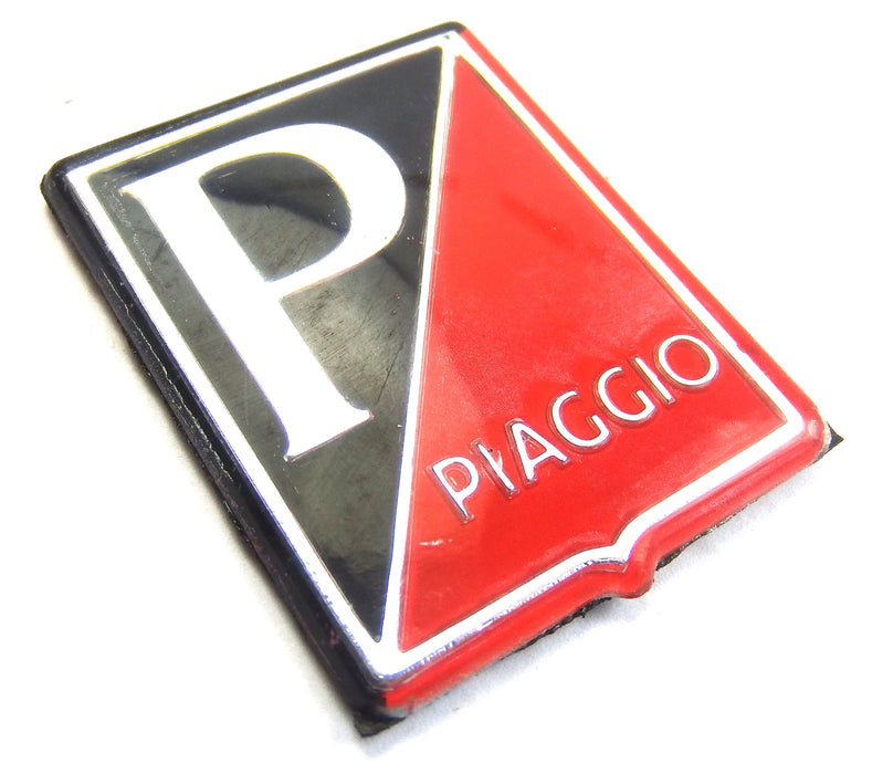 Badge - Horncover - Piaggio Shield - Black/Red/Silver