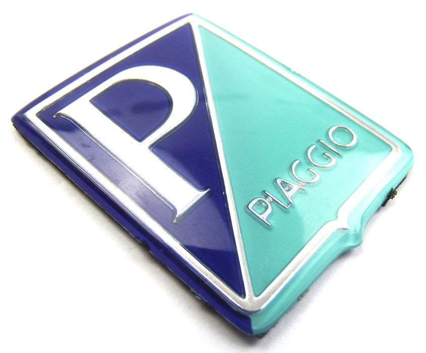 Badge - Horncover - Piaggio Shield - Dark Blue/Light Blue/Silver