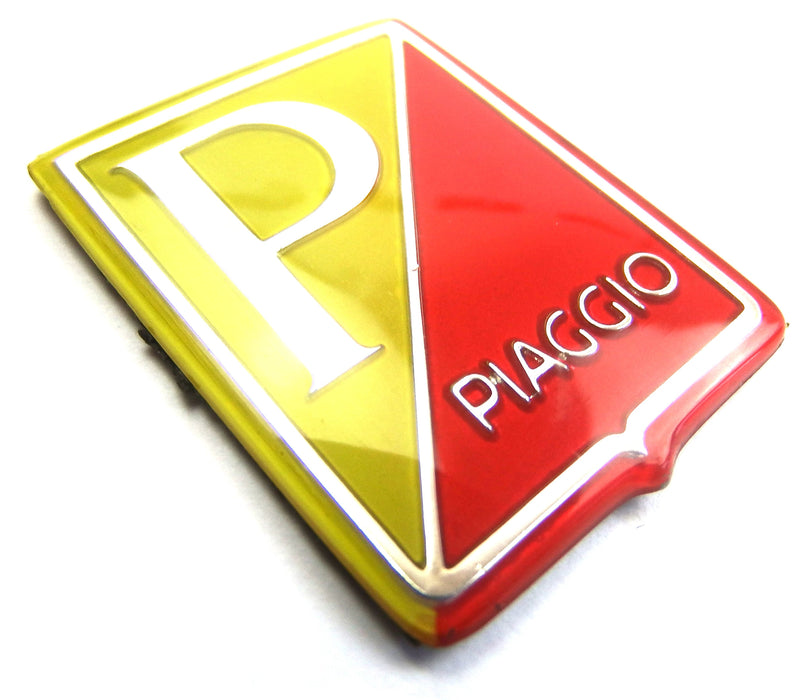 Badge - Horncover - Piaggio Shield - Yellow/Red/Silver