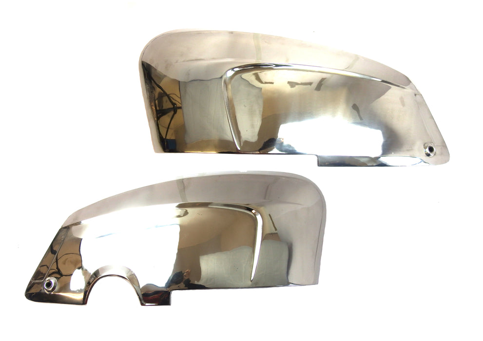 Lambretta TV Li Special Polished Stainless Side Panels (with handle holes)