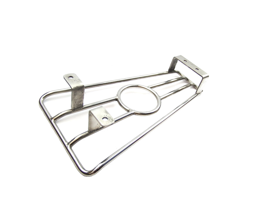 Vespa PX T5 LML Floor Board Centre Rack Tray With Cupholder - Stainless Steel