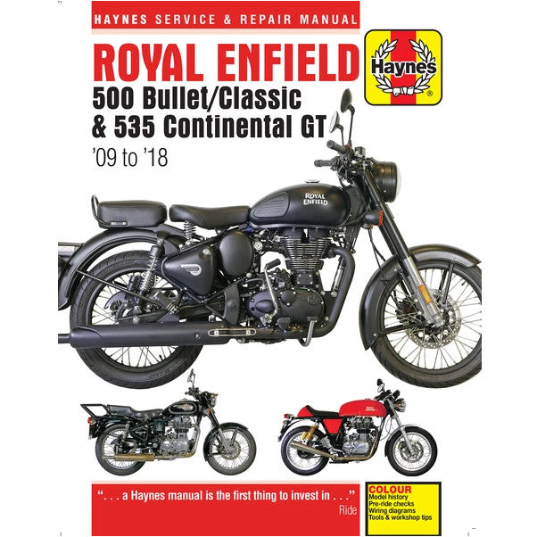 Manual - Haynes Royal Enfield Bullet 09-18 Electra Classic Continental GT 6427