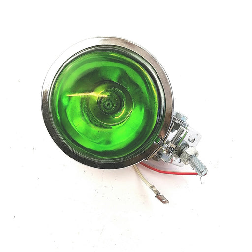 Lamp - Spot Light 9cm - Hunter Style - Chrome - Green Lens