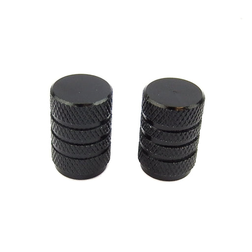 Machined Valve Cap Black