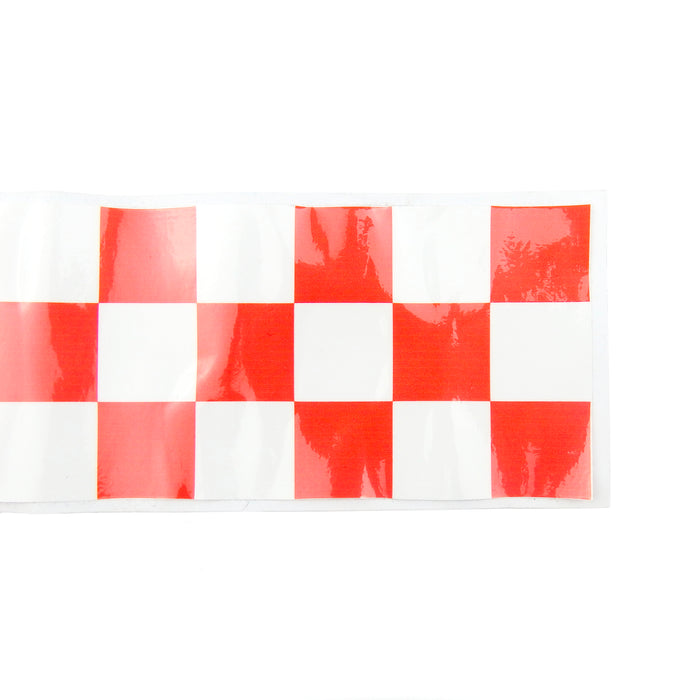 Sticker - Chequered Sticker Strip - 1 Metre - Red