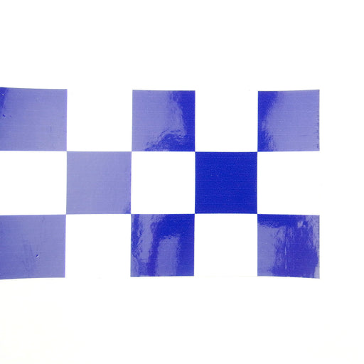 Sticker - Chequered Sticker Strip - 1 Metre - Blue