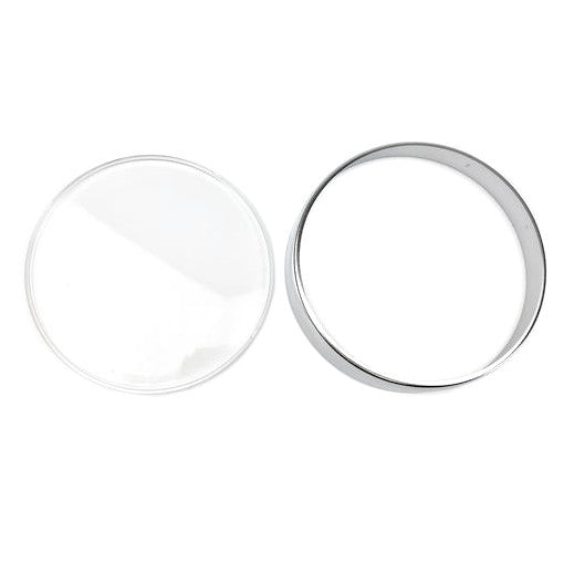 Vespa Speedometer Lens Repair Kit Chrome PX EFL,T5 Classic