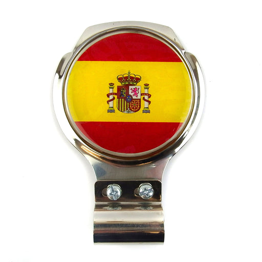 Bar Badge/Plaque - Spanish Flag - Stainless Steel