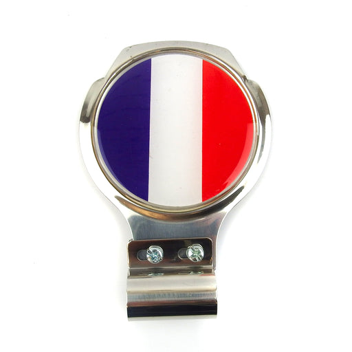 Bar Badge/Plaque - French Flag - Stainless Steel