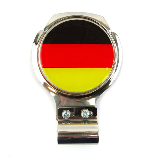 Bar Badge/Plaque - German Flag - Stainless Steel