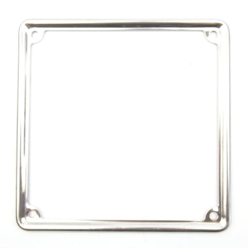 Number Plate - Surround - Stainless Steel - 17cm x 17cm