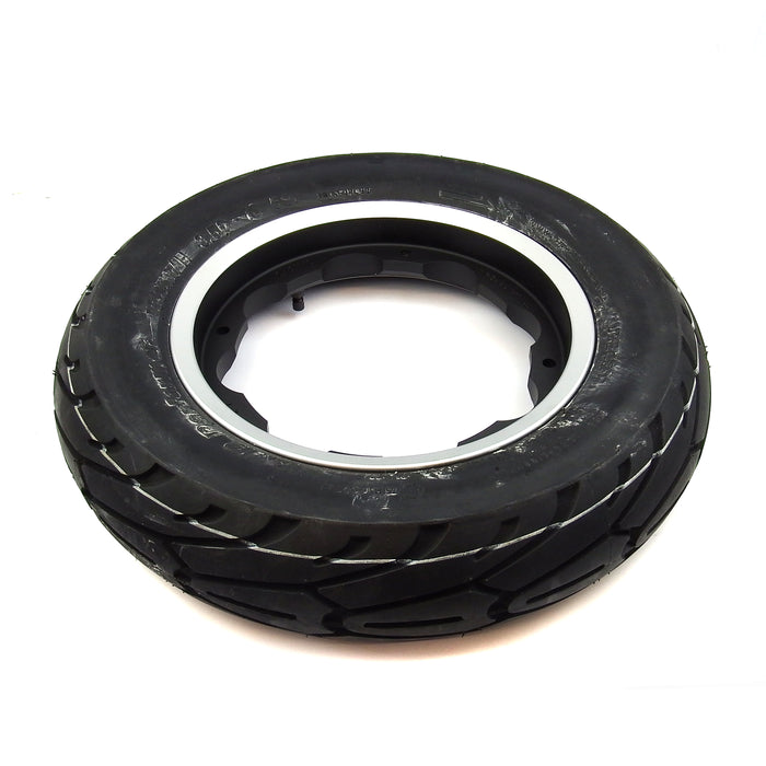 Lambretta SIP Wheel Rim Tubeless & Tyre Aluminium Black With Silver Edge