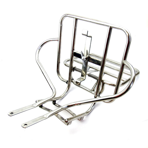 Lambretta Series 3 - 2 in 1 Rear Jimmy Style Rear Rack - Polished Stainless