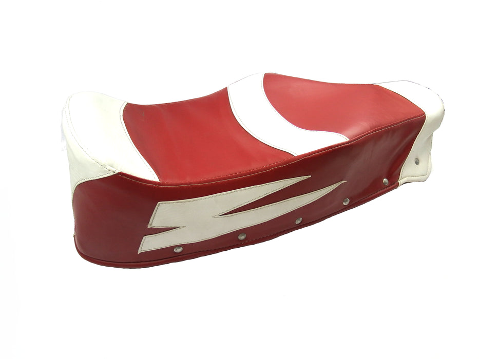 Lambretta Covolo Style Cover - Ox Blood (Primary) and White (Secondary)